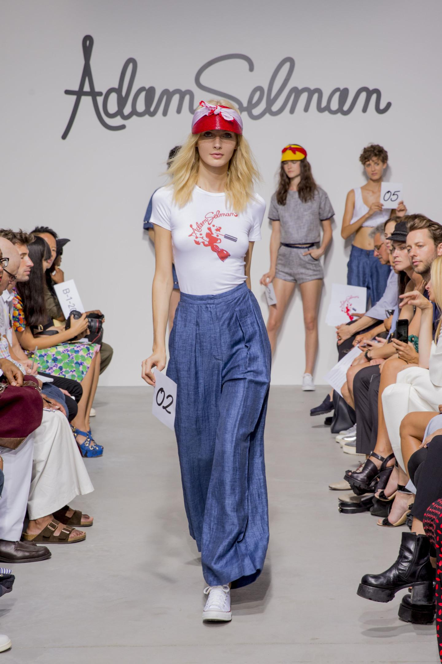 nyfw modern jane birkin at adam selman spring summer 15 i d adam is all about collaboration and this collection drew on the talents of his close knit crew jen brill creative collaborated on the vision for the show