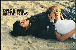 Chloe Sevigny and Harmony Korine on the beach in i-D magazine 2000