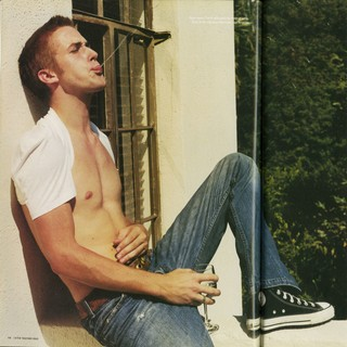 Ryan Gosling shirtless in i-D magazine in 2002 when he was 21