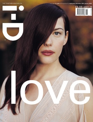 Liv Tyler on the cover of i-D magazine