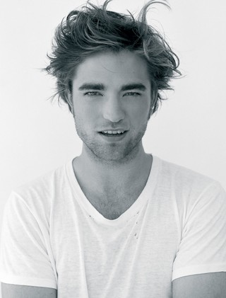 Robert Pattinson black and white photo for i-D magazine in 2009