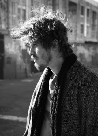 Garrett Hedlund from On The Road in black and white for i-D magazine
