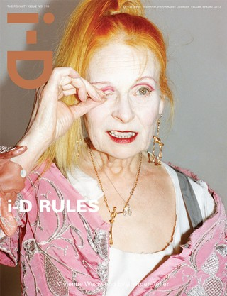 Vivienne Westwood on the cover of i-D magazine