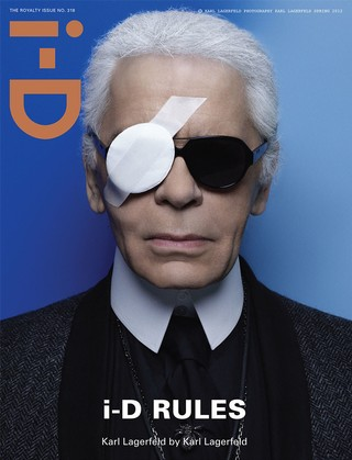 Karl Lagerfeld on the cover of i-D magazine