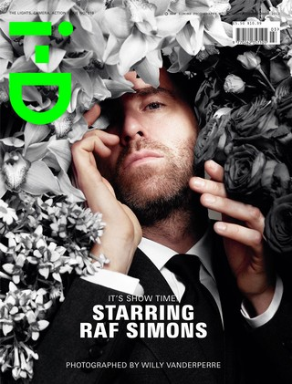 Raf Simons on the cover of i-D magazine