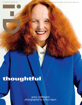 Grace Coddington on the cover of i-d magazine
