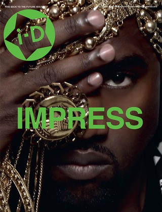 Kanye West on the cover of i-D magazine