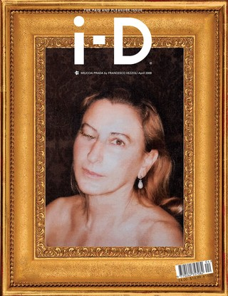 Miucca Prada on the cover of i-d magazine