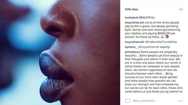 a makeup artist's gorgeous shot brings out racist trolls