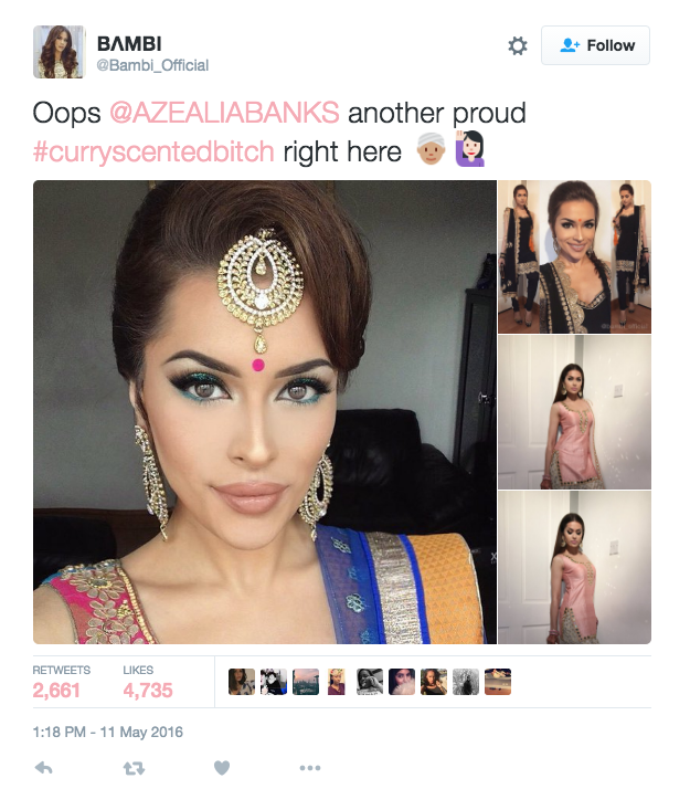 south asian tweeters are turning azealia banks' racial slurs into a
