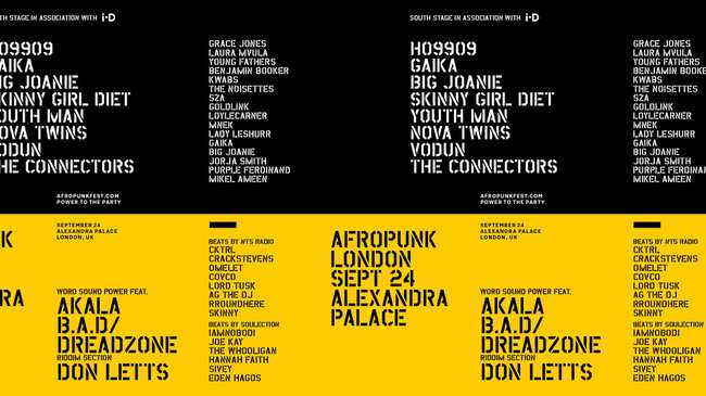power to the party! i-D will host a stage at afropunk london