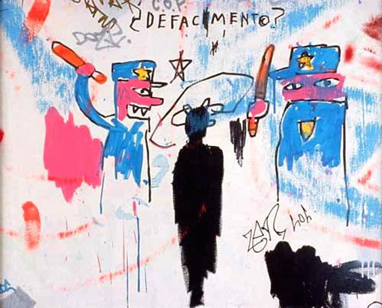 when basquiat took a stand against police brutality - i-D