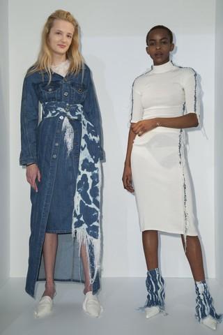 Faustine Steinmetz denim at London Fashion Week