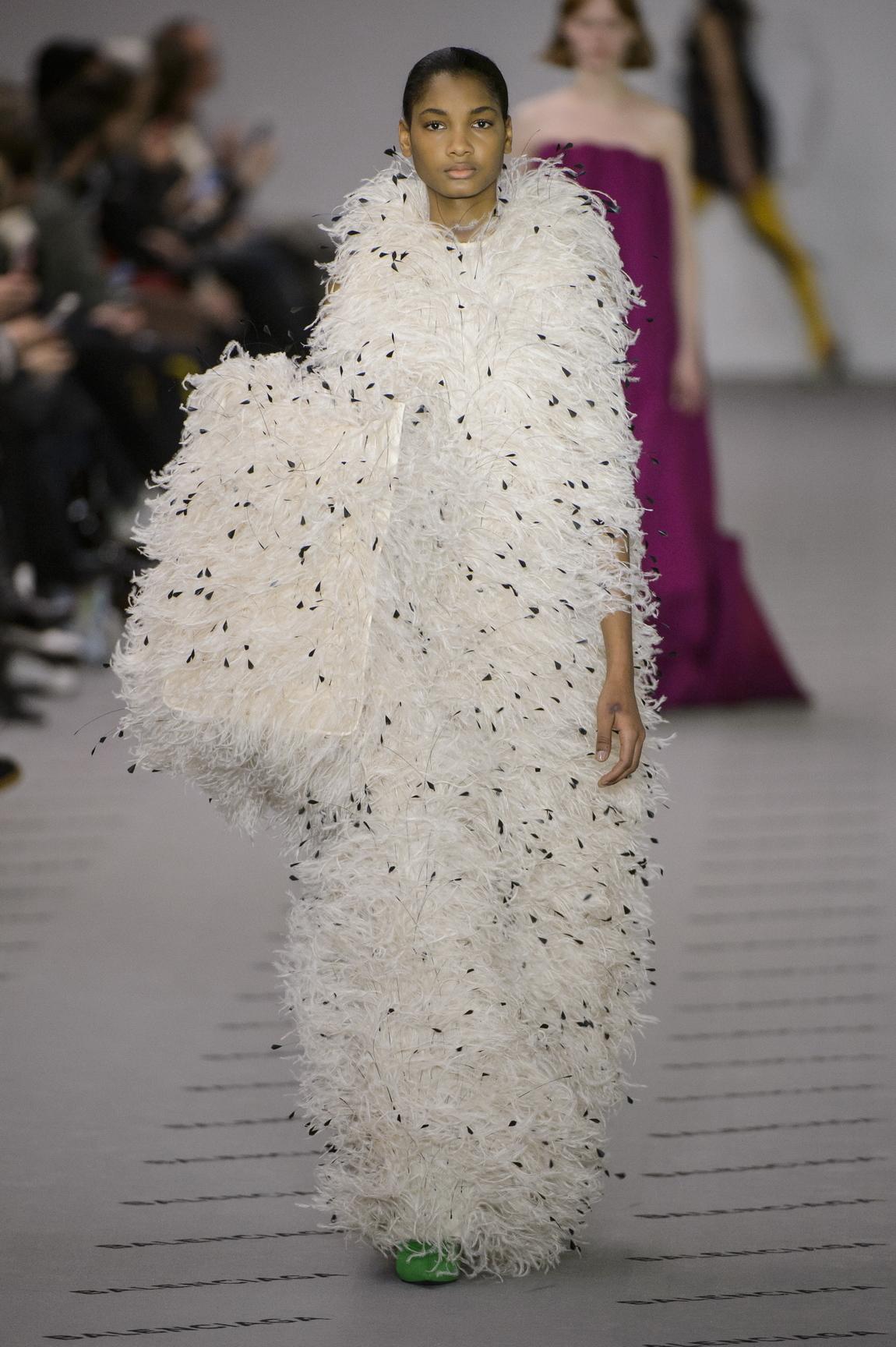 new way haute: balenciaga, valentino, and céline at paris fashion ...