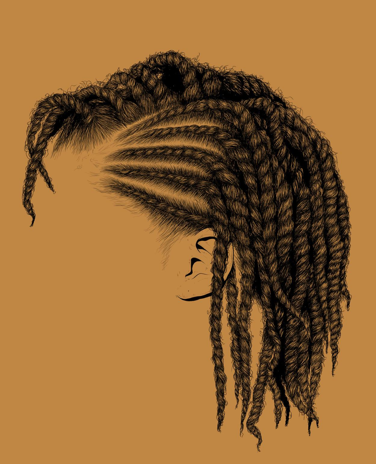 these intricate illustrations of black women's hair promote self-love | read | i-D