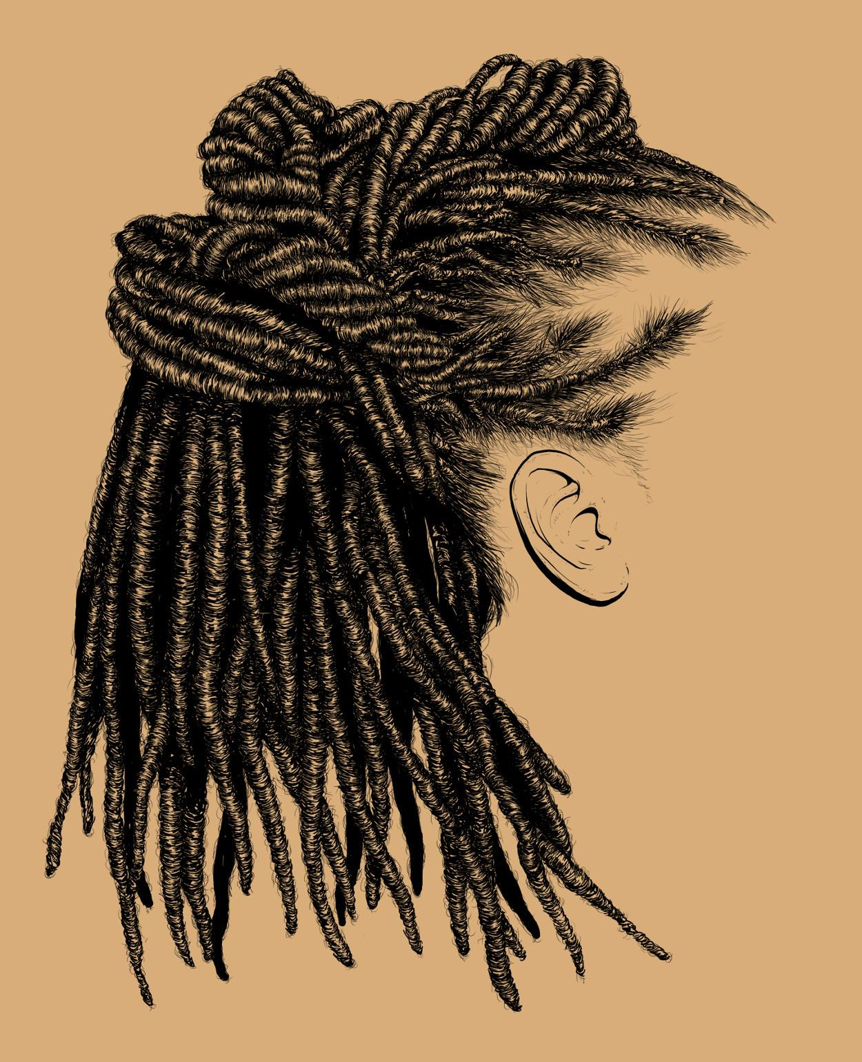 these intricate illustrations of black women's hair ...