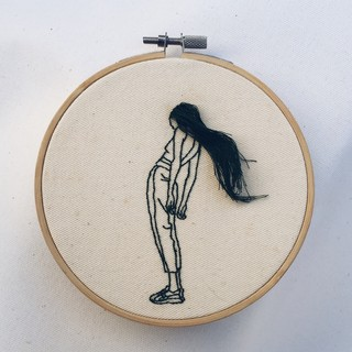 Sheena Liam S Incredible Embroidery Art Features Handmade Hair I D