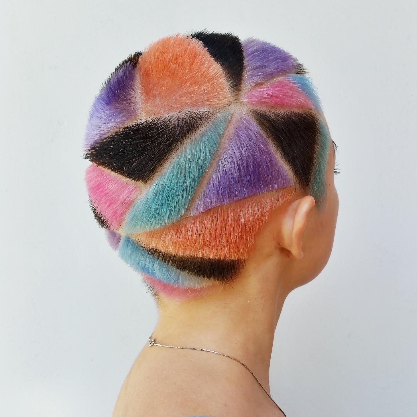 Geometryczne Kolorowe Fryzury Inspirowane Punkiem I D