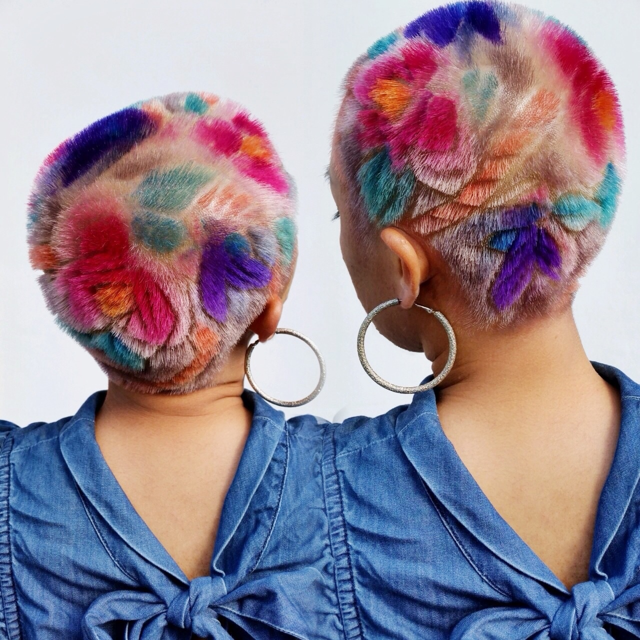 Geometric Buzz Cuts And Colorful Hair Tattoos Inspired By 90s Punk