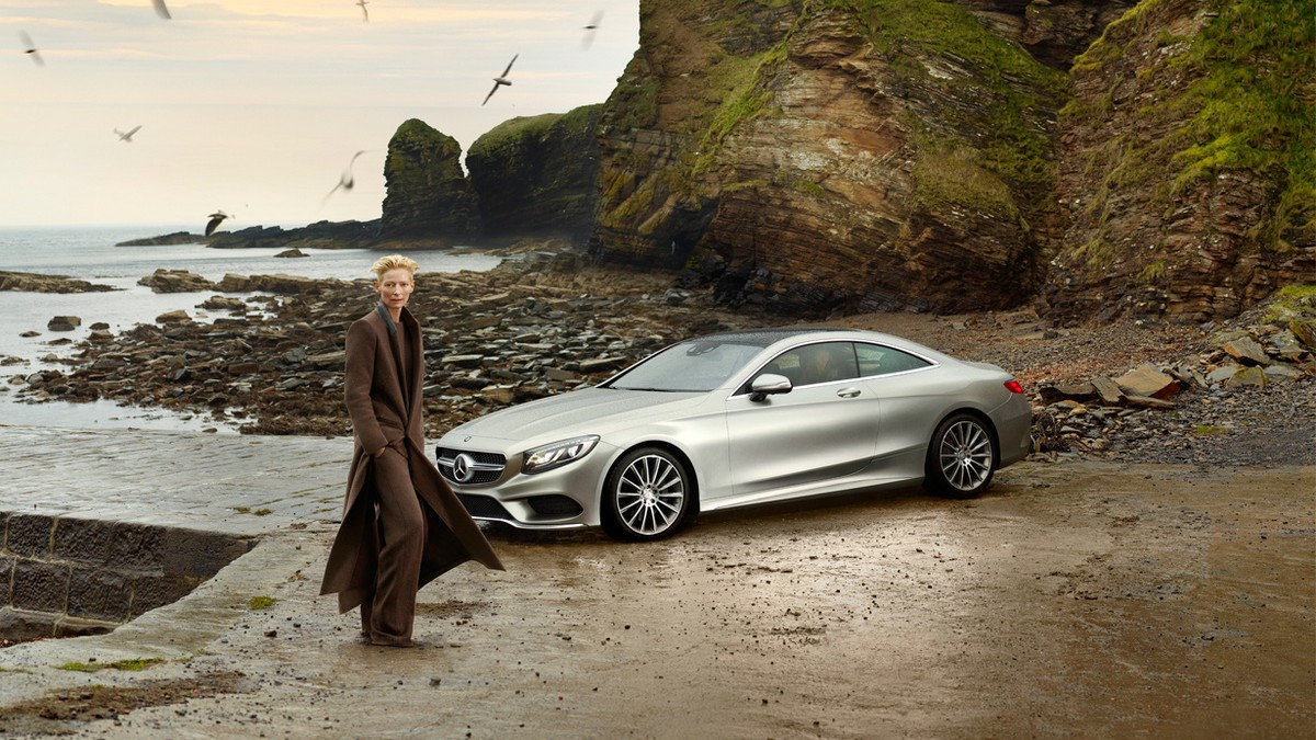 Driving the dream: Tilda Swinton, Haider Ackermann, and Roe Ethridge team up for Mercedes Benz