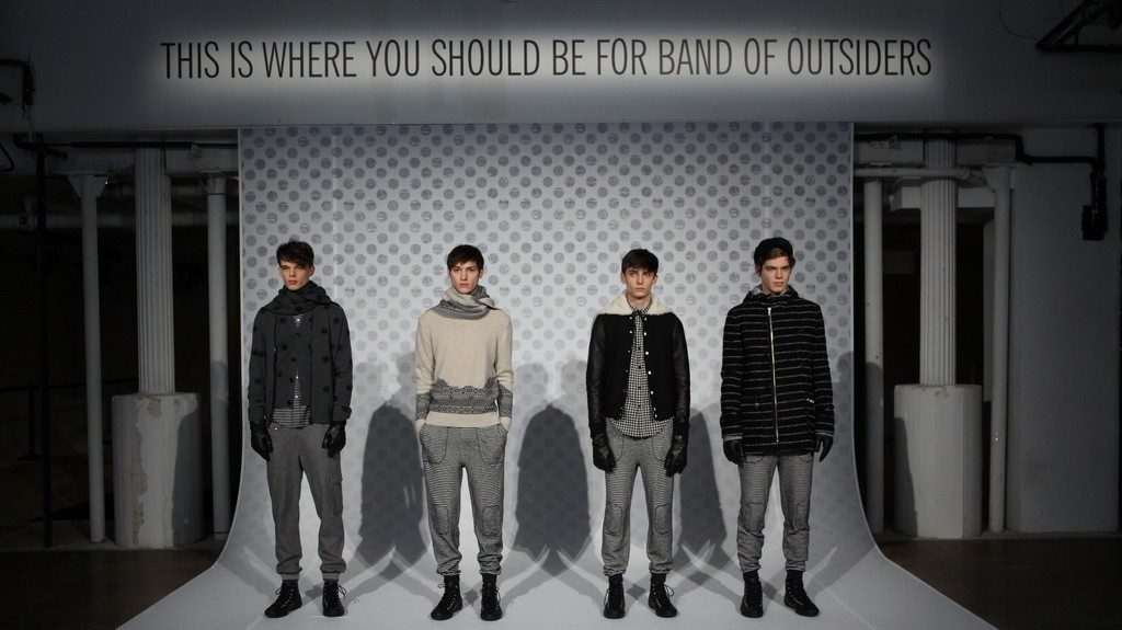 band of outsiders autumn/winter 14 menswear