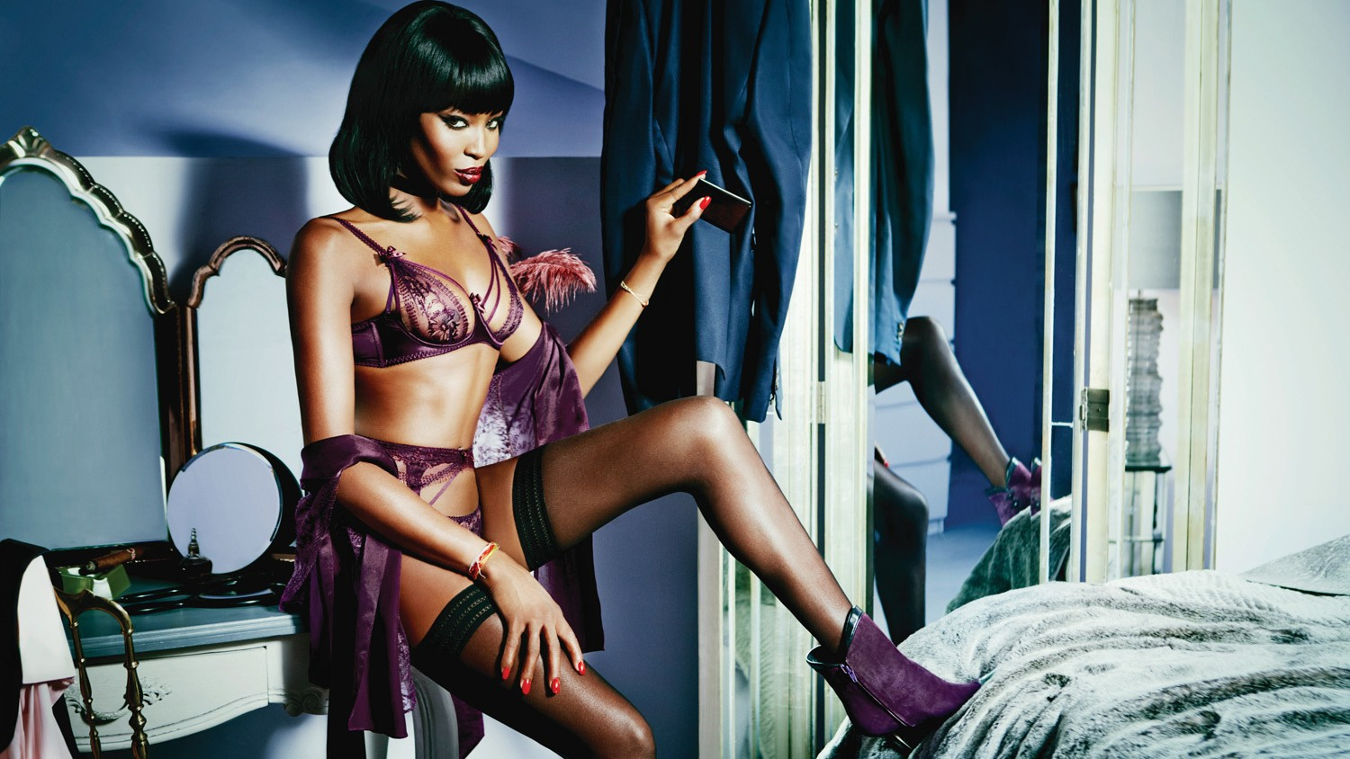 naomi campbell is the new face of agent provocateur