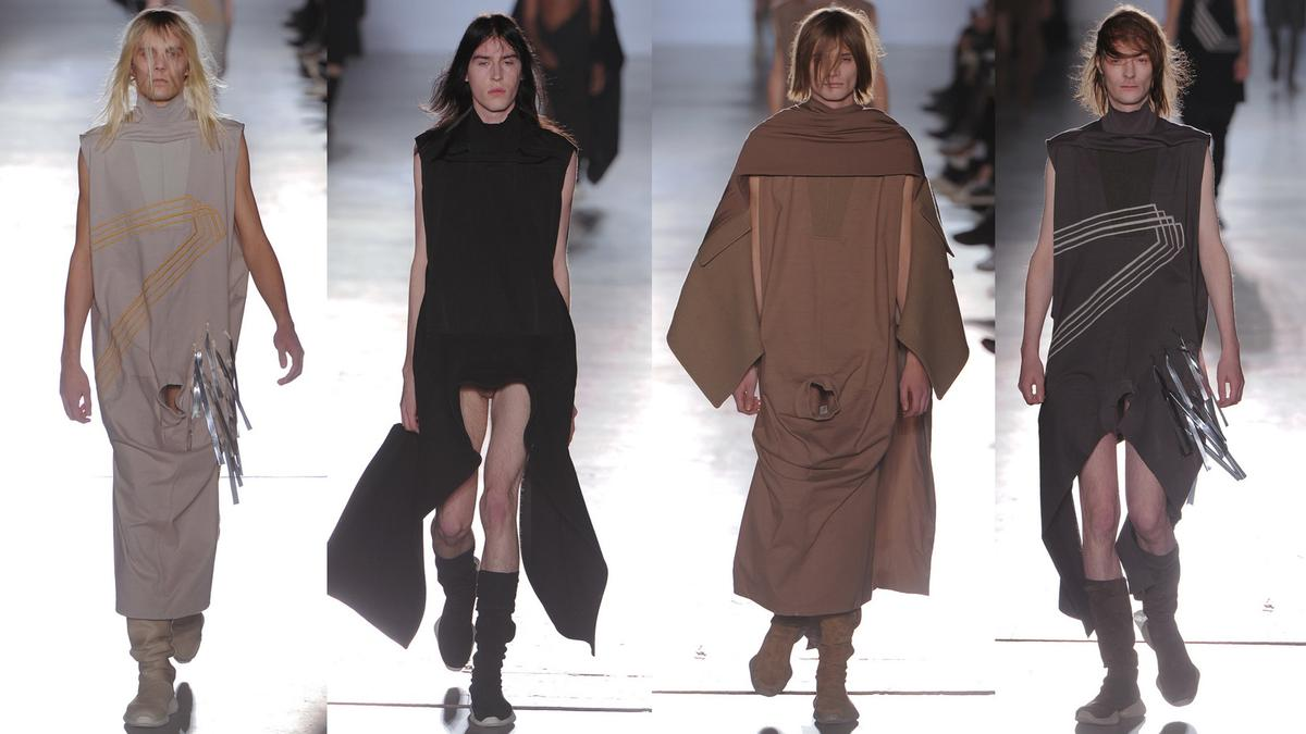 rick owens on his runway dick tricks