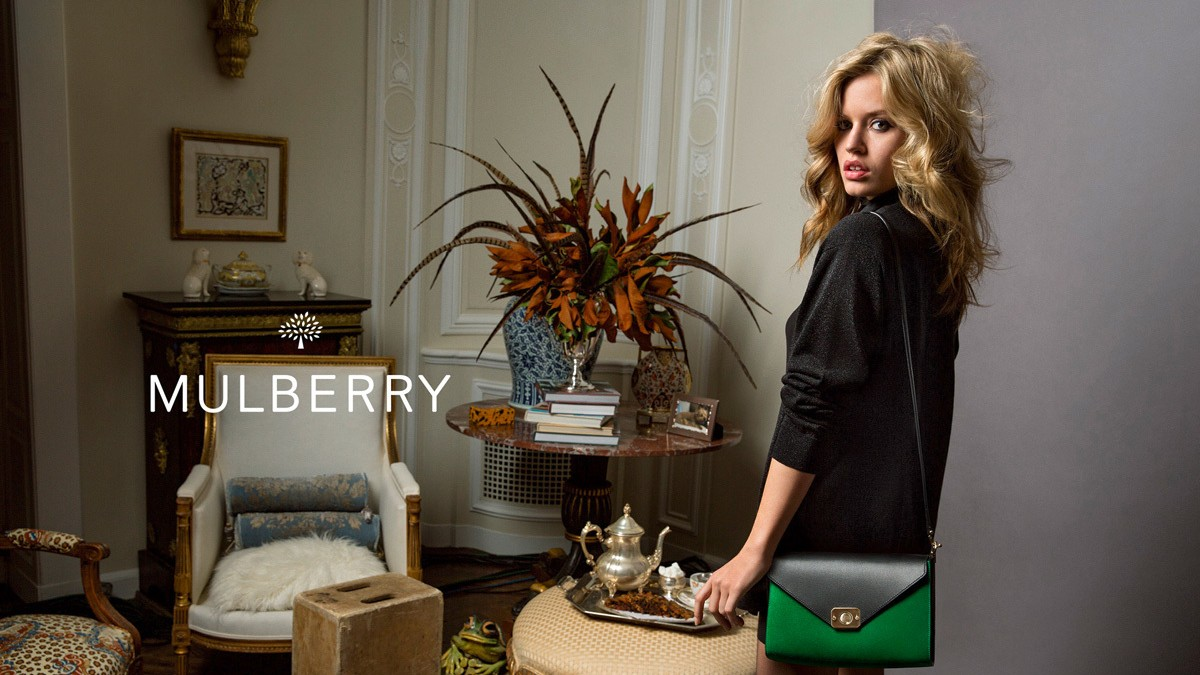 georgia may jagger stars in the latest mulberry campaign