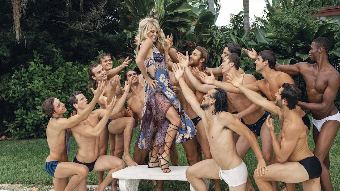 bruce weber reunites with his favorite bombshell christie brinkley for barneys