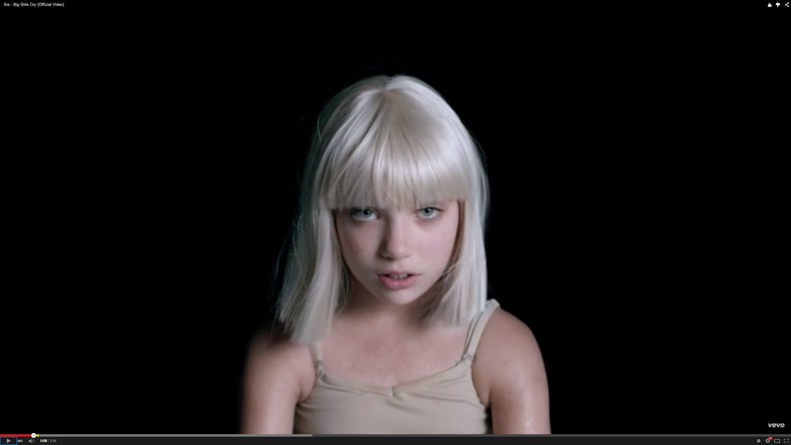 sia releases third video starring maddie ziegler - i-D