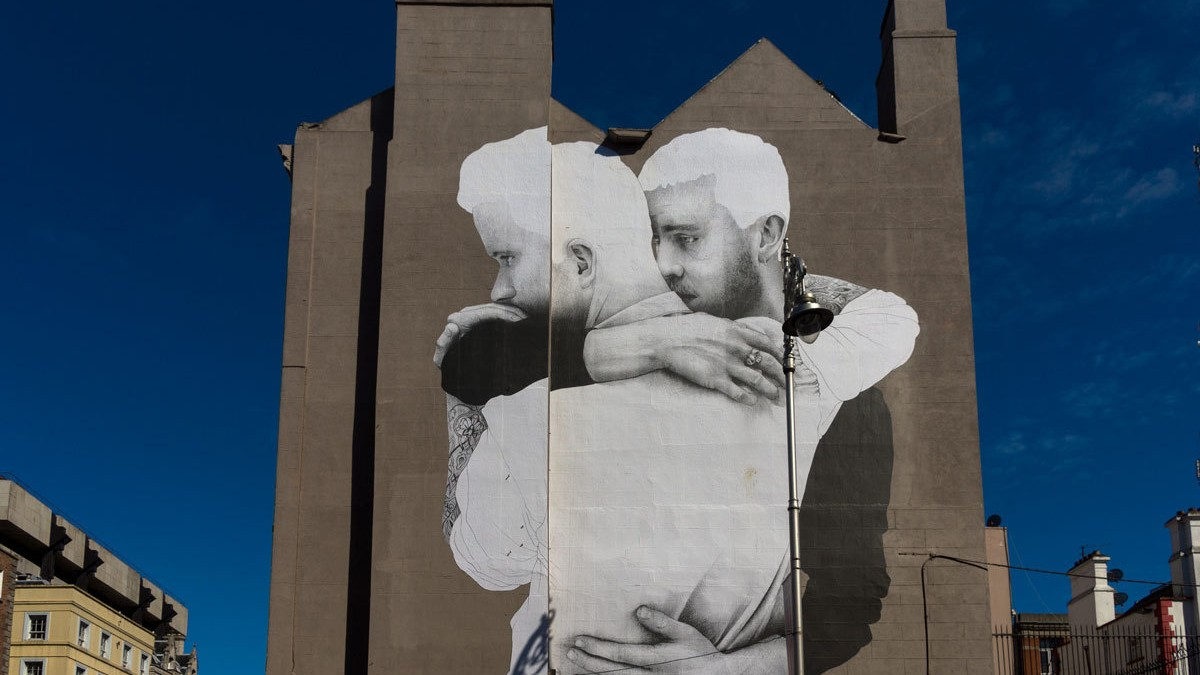 Joe caslin is immortalizing ireland 39 s marginalized youth for Dublin gay mural