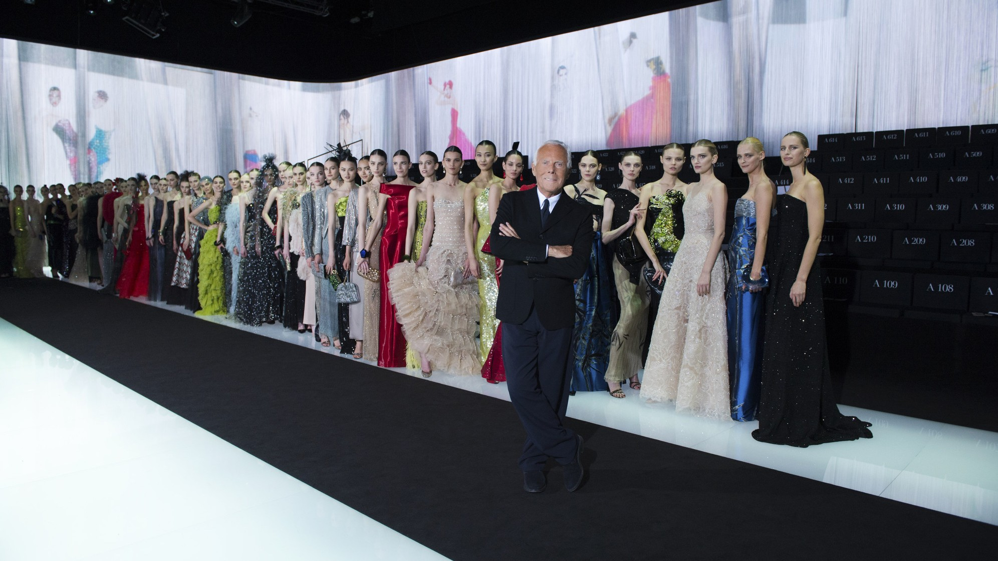 armani fetes 40th anniversary with a fleet of famous friends