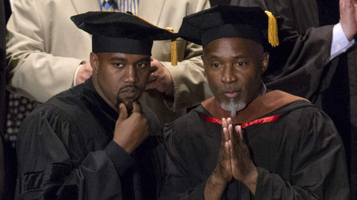college dropout kanye west goes back to school to receive doctorate