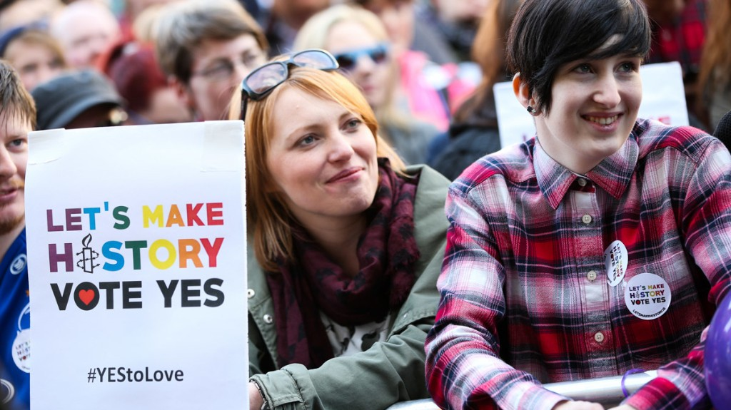 ​yes! ireland votes overwhelmingly to legalise gay marriage