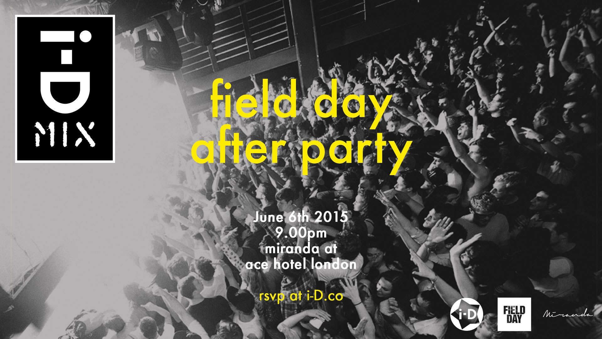 we're throwing the field day after party you'll want to go to