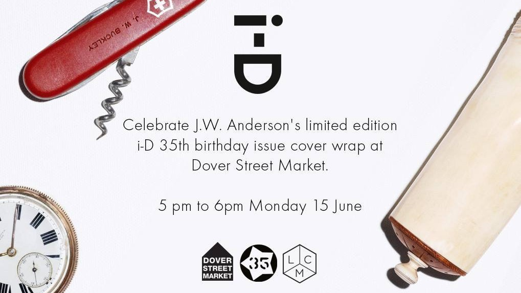 ​j.w. anderson x i-D cover wrap signing at dover street market today