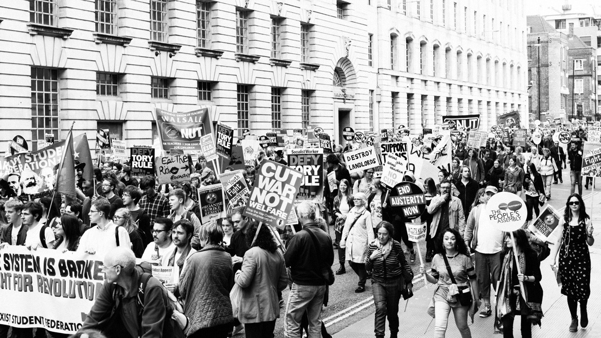 ​250,000 march in london to protest austerity