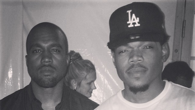 kanye west and chance the rapper are collaborating