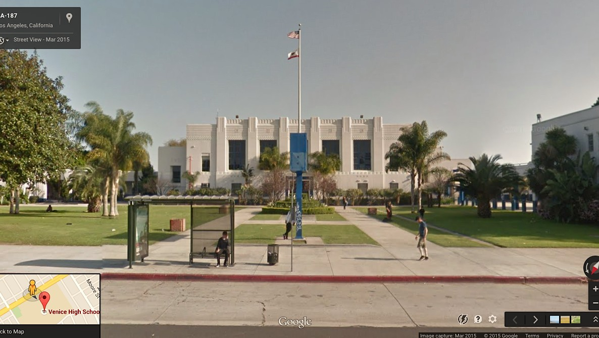 visiting the high schools from your favourite teen movies… in google street view