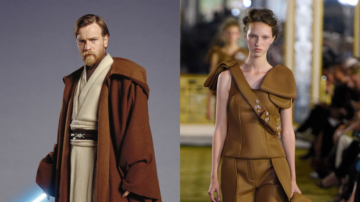 """the force was strong"" tijdens london fashion week"