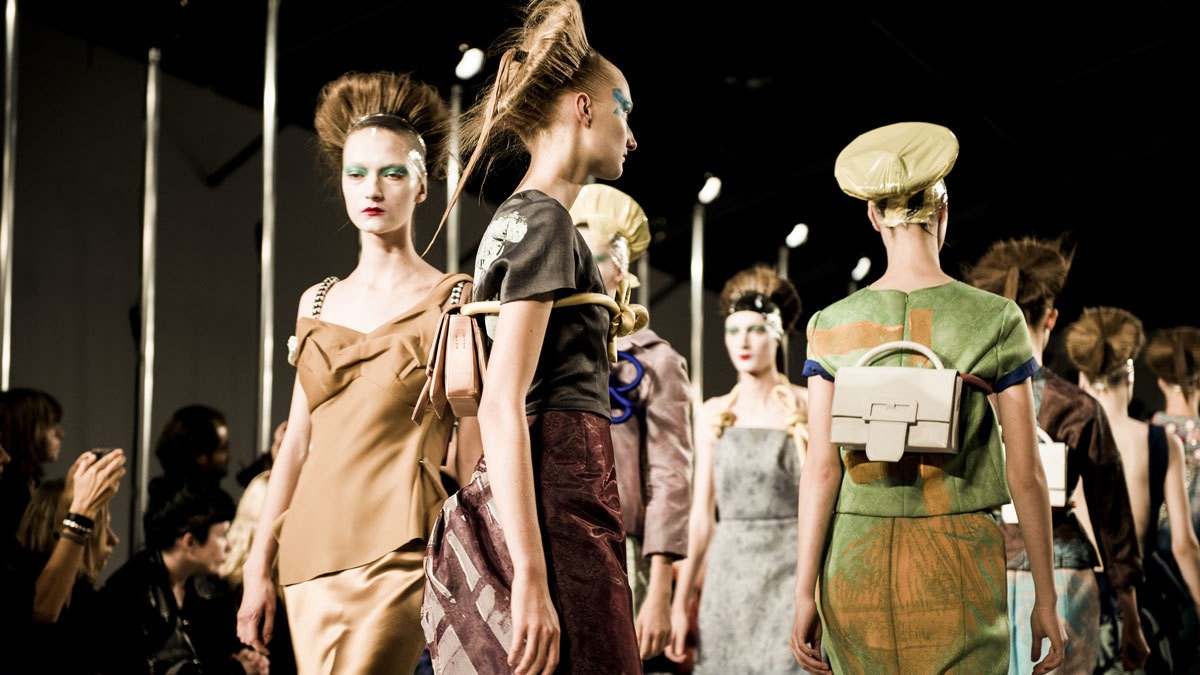 at paris fashion week there's no business like show business