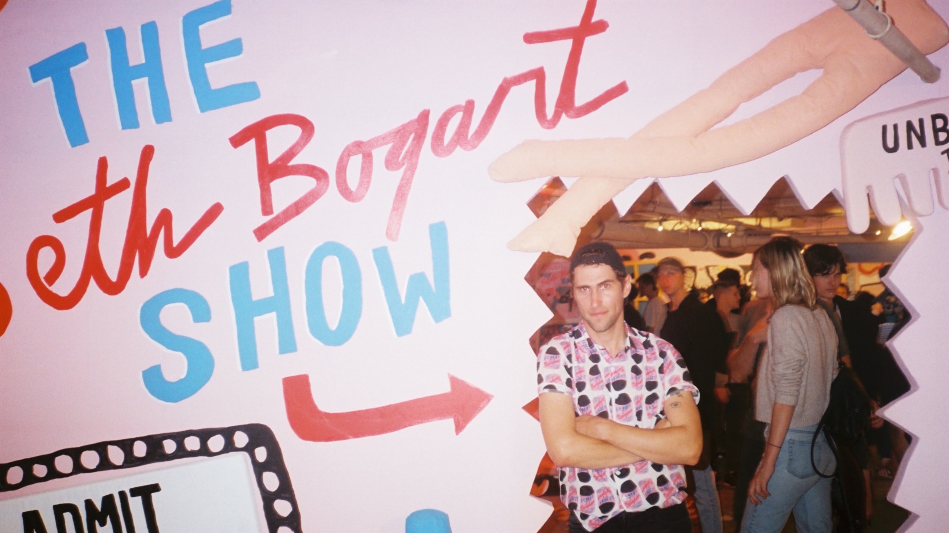 hunx and his punx frontman seth bogart closes his l.a. art show with a bang