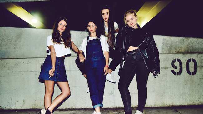 premiere: watch hinds channel godard in 'garden' video - i-D