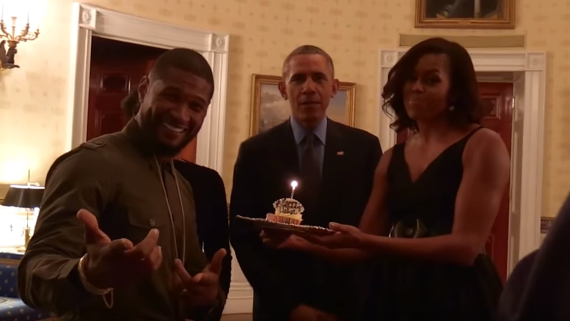 ​the obamas singing happy birthday to usher is just so joyful