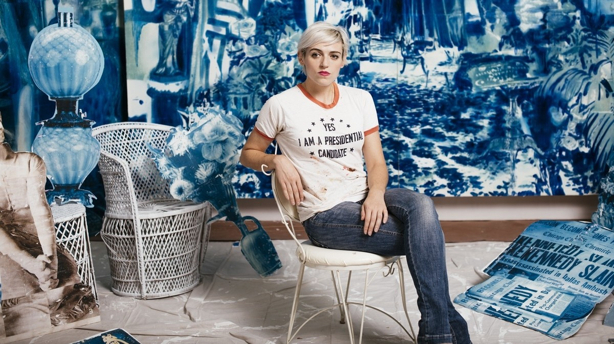 the art world is a boys' club, says artist rosson crow
