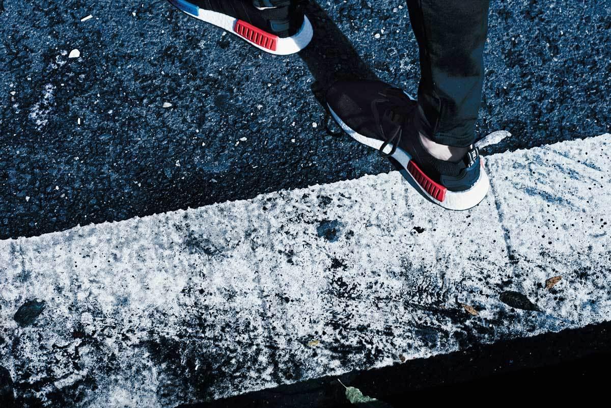 Adidas fusibili il design futuristico in passato, con il suo innovativo nmd - d