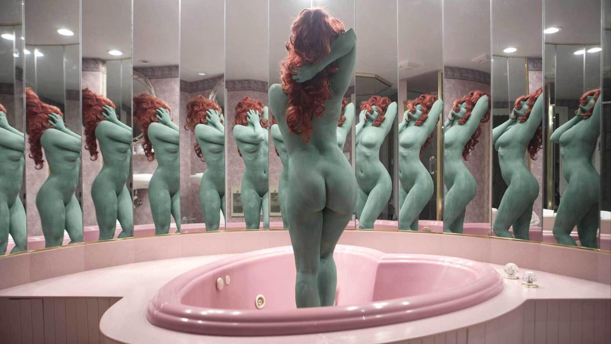 Hidden bathroom door - June Calypso S Photographs Explore Beauty Rituals Behind Bathroom