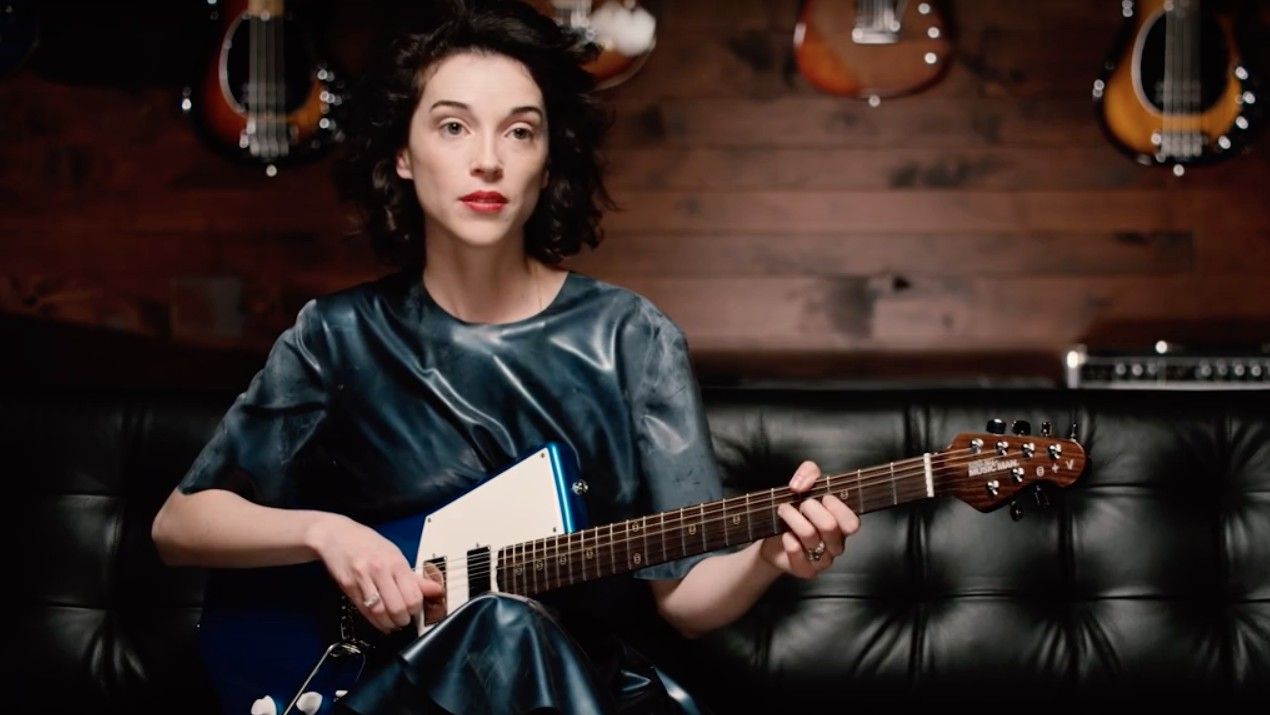 st vincent redesigned an electric guitar to make room for boobs