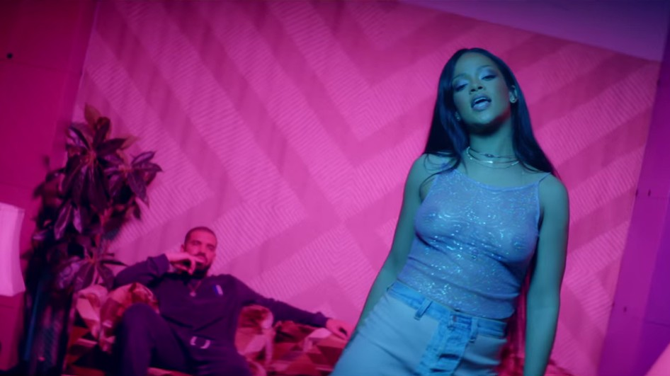 rihanna drops decadent two-part video for drake collab 'work'