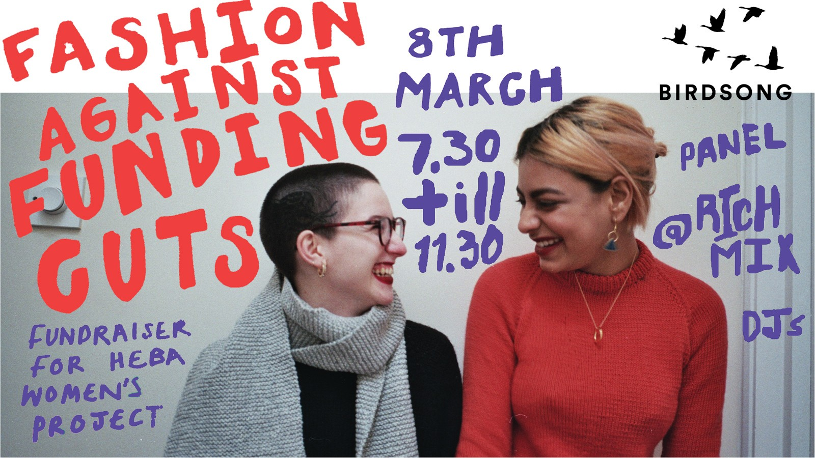​support fashion against funding cuts on international women's day